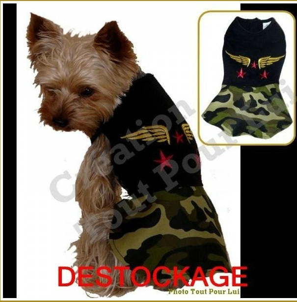 ROBE CAMOUFLAGE POUR CHIEN
