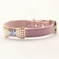 COLLIER POUR PETIT CHIEN collier en cuir rose pour chien