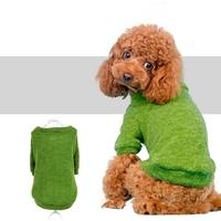 MANTEAU POUR CHIEN cardigan vert pour chien