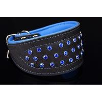 COLLIER POUR CHIEN LEVRIER collier à strass bleus pour chien