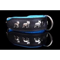 COLLIER CUIR POUR CHIEN collier bleu pour chien Bouledogue Français