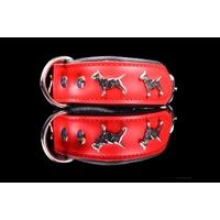 COLLIER CUIR POUR CHIEN collier rouge pour chien Bull Terrier