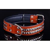 COLLIER CUIR POUR CHIEN collier Rock marron pour chien