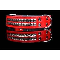 COLLIER CUIR POUR CHIEN collier Rock rouge pour chien