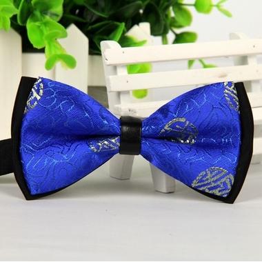 noeud papillon de luxe bleu et noir pour chien