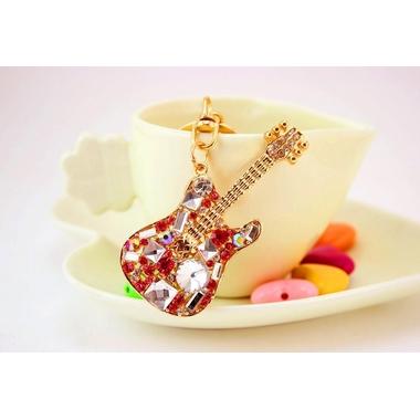 porte cle bijou guitare rouge2