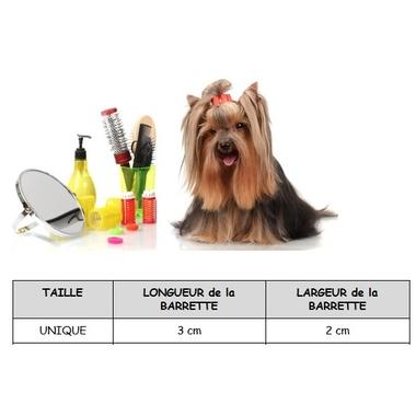 barrette pour chien 3 x 2 cm