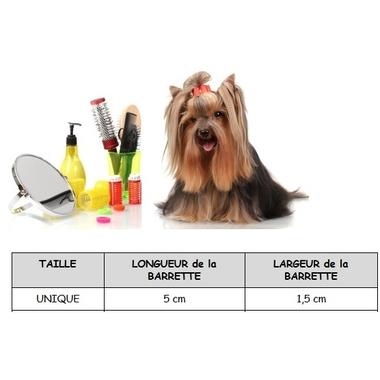 barrette pour chien 5 x 1,5 cm