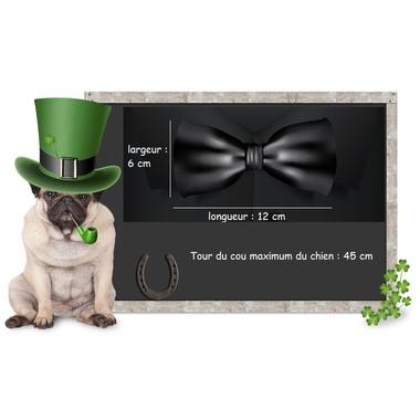 noeud papillon pour chien cuir 12x5x45