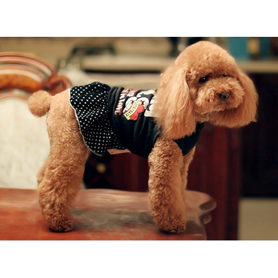 ROBE GIRLY NOIRE POUR CHIEN