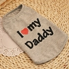 POLO GRIS LOVE DADDY POUR CHIEN