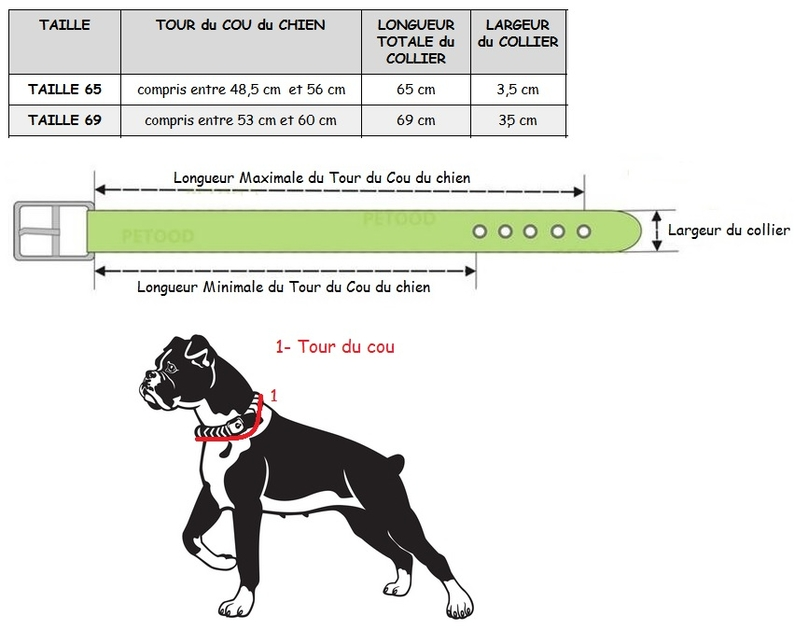 collier en cuir pour chien collier pour chien sp cial boxer. Black Bedroom Furniture Sets. Home Design Ideas
