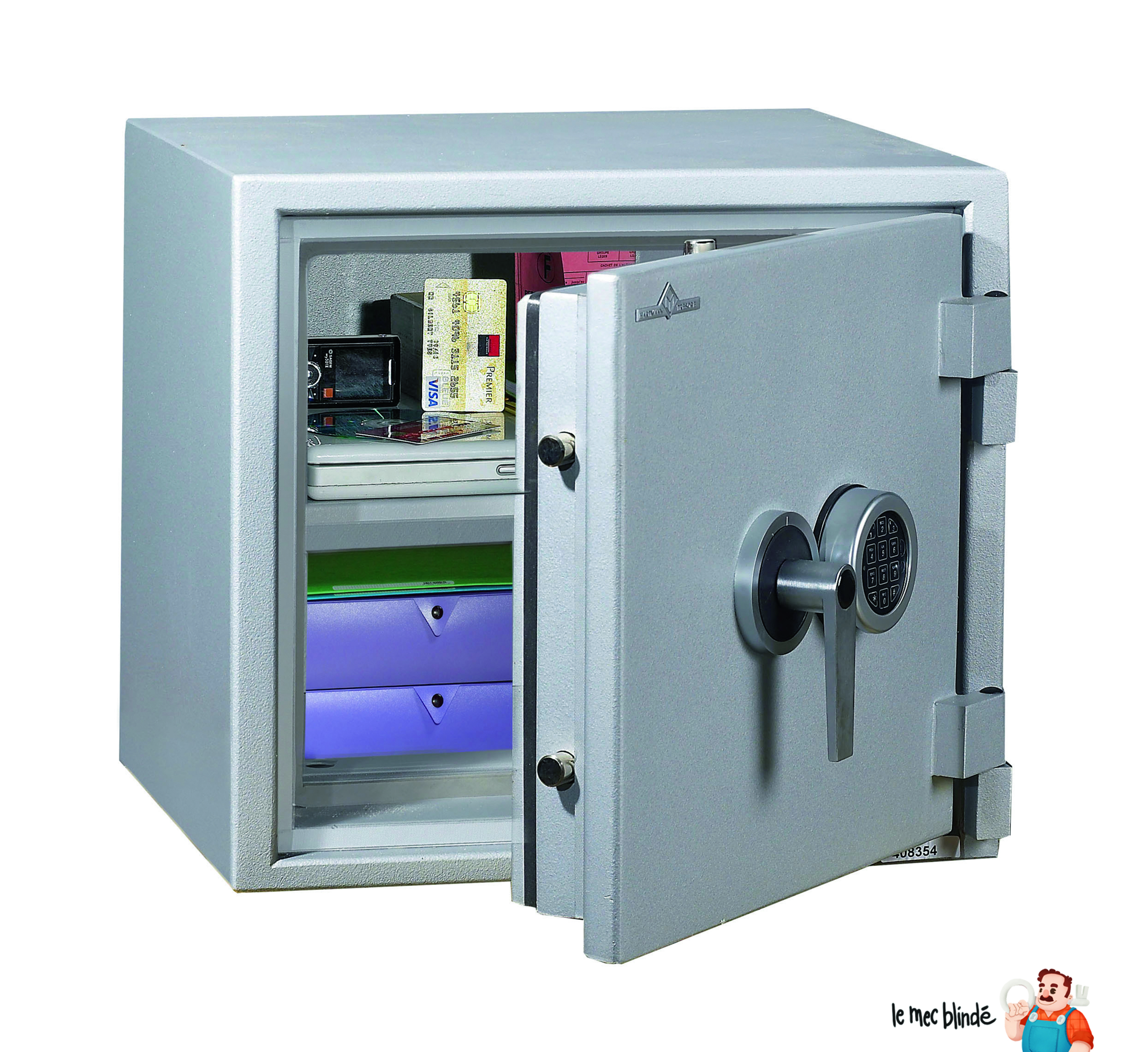 armoire forte blind e ignifuge hartmann pi0050 serrure cl 48 l le mec blind. Black Bedroom Furniture Sets. Home Design Ideas