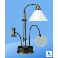 Lampe Prestige sur socle de table, antique