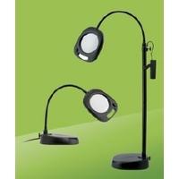 """Lampe loupe 5"""" LED sur table & pied, noir"""