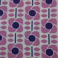 Tissu biologique fleurs purple