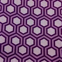 Tissu biologique hexagone purple