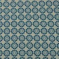 Tissu écologique marguerite blue