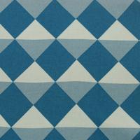 Tissu biologique carrés blue