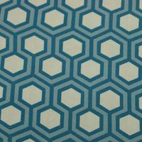 Tissu biologique hexagone blue