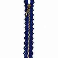 Fermeture dentelle 18 cm bleue