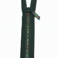 Fermeture strass noire 16 cm