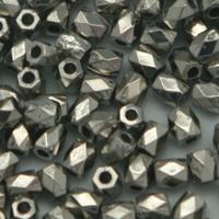 Perles à facettes coloris argent