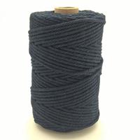 Corde à macramé bleu marine