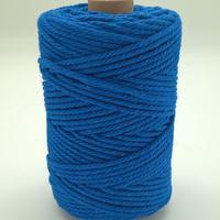 Corde à macramé bleu royal
