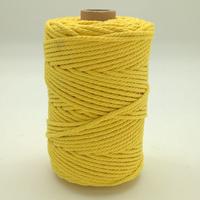 Corde à macramé jaune