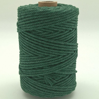 Corde à macramé vert foncé