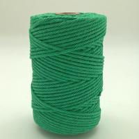 Corde à macramé vert moyen
