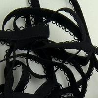 Elastique à picots noir 7 mm