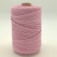 Corde à macramé rose pale