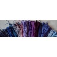Lot 50 échevettes coloris  bleu mauve