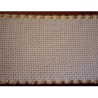 Galon aida coloris blanc  5 cm avec feston doré