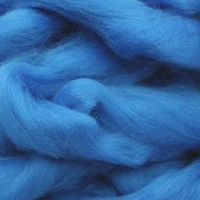 Laine cardée à feutrer bleu outremer
