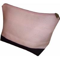 Pochette zippée rose et noir