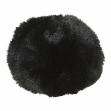 pompom fausse fourrure noire
