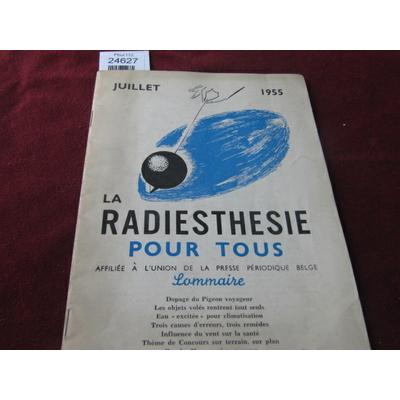 colectif : La radiethésie pour tous . juillet 1955 N°7...