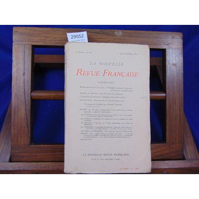 collectif  : La nouvelle Revue Française. N°60 1er déc. 1913, 5eme année...