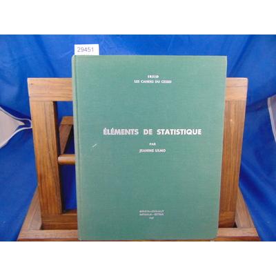 Ulmo Jeanine : éléments de statistique...