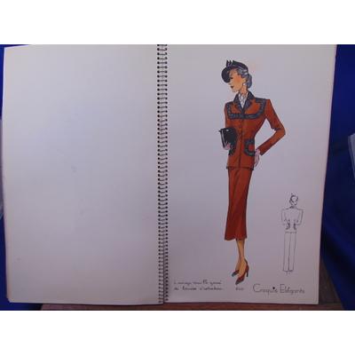 collectif  : Croquis élégants, modèles d'avant saisons, hiver 1938 1ere série  manteaux (planches 583 à 616)..