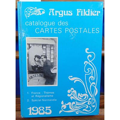 Fildier andré : Argus Fildier cartes postales -1 : france -2 spécial Normandie  1985...