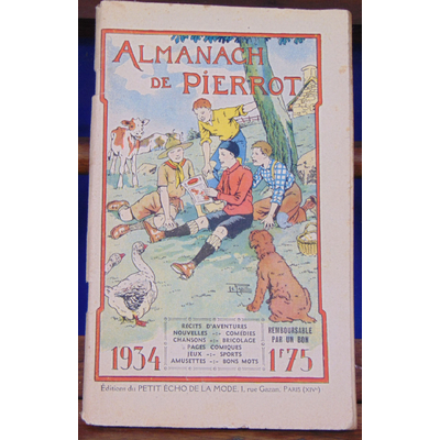 Collectif  : almanach de Pierrot 1934...