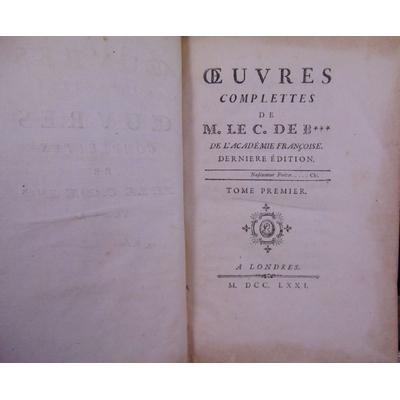 Bernis Cardinal de : Oeuvres complettes de M. le C. de B***...