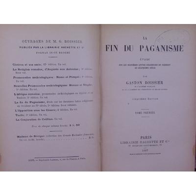 Boissier Gaston : La fin du paganisme...