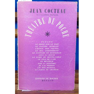 Cocteau Jean : Théatre de poche avec 14 dessins inédits de l'auteur...