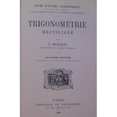 Dufailly J : Trigonométrie rectiligne...