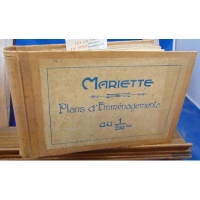 collectif  : Mariette. plans d'aménagement au 1/200e...